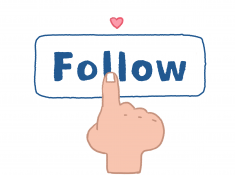 instagram follow button illustration