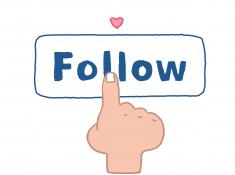 instagram follow button illustration