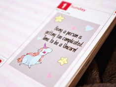 Plan 2017 be unicorn planner sticker