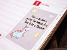 Plan 2017 be unicorn planner sticker