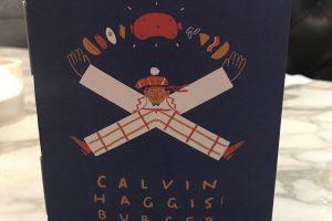Calvin Haggis burger flier